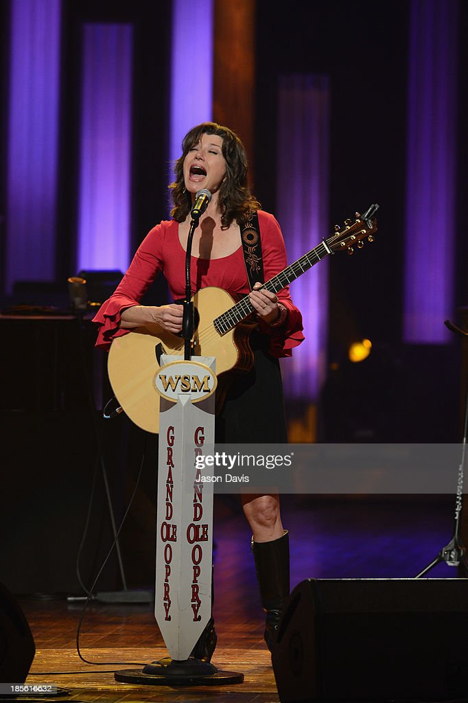 Singer <a gi-track='captionPersonalityLinkClicked' href=/galleries/search?phrase=Amy+Grant&family=editorial&specificpeople=240521 ng-click='$event.stopPropagation()'>Amy Grant</a> performs during the 5th annual Opry Goes Pink show at The Grand Ole Opry on October 22, 2013 in Nashville, Tennessee.