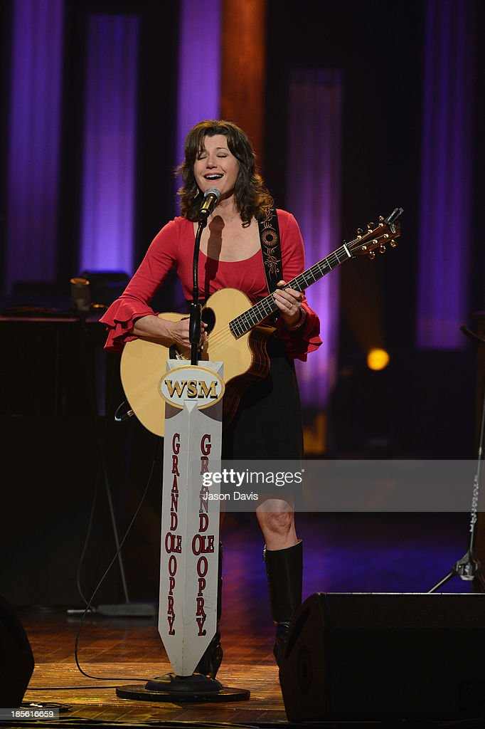 Singer Amy Grant performs during the 5th annual Opry Goes Pink show at The Grand Ole Opry on October 22, 2013 in Nashville, Tennessee.