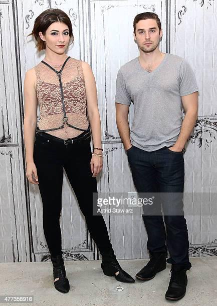 Singer Amy Heidemann and musician Nick Noonan of Karmin attend AOL BUILD Speaker Series Karmin at AOL Studios In New York on June 16 2015 in New York...