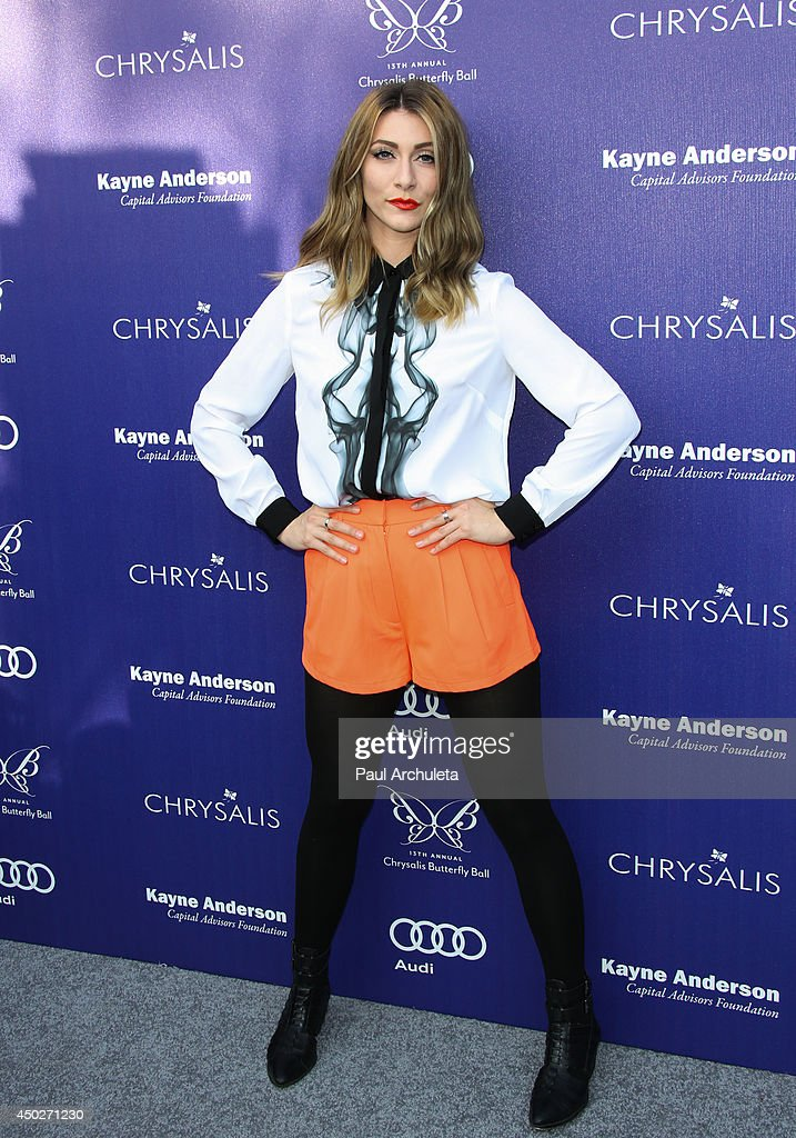 Singer Amy Heidemann attends the 13th Annual Chrysalis Butterfly Ball at a private Mandeville Canyon Estate on June 7, 2014 in Los Angeles, California.