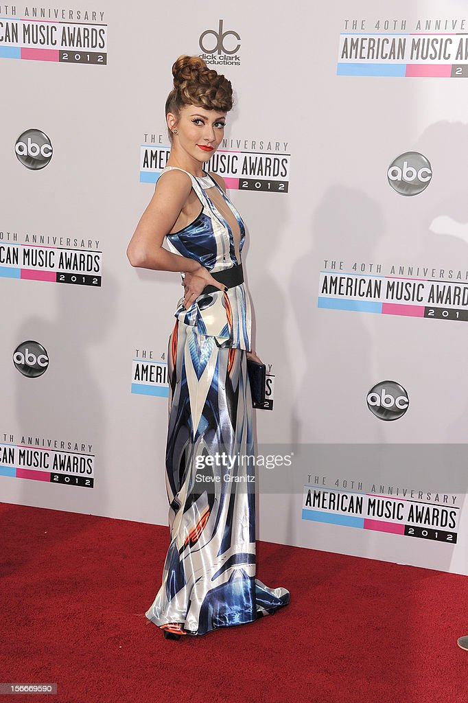 Singer Amy Heidemann attends the 40th Anniversary American Music Awards held at Nokia Theatre LA Live on November 18 2012 in Los Angeles California