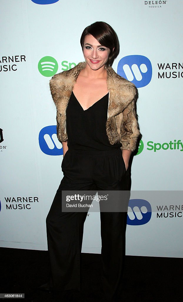 Singer Amy Heidemann attends the Warner Music Group Annual Grammy Celebration at Chateau Marmont on February 8 2015 in Los Angeles California