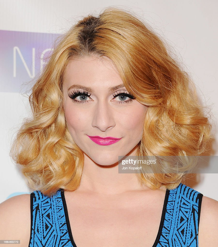 Singer Amy Heidemann of arrives at the NARM Music Biz 2013 Awards Dinner Party at the Hyatt Regency Century Plaza on May 9, 2013 in Century City, California.