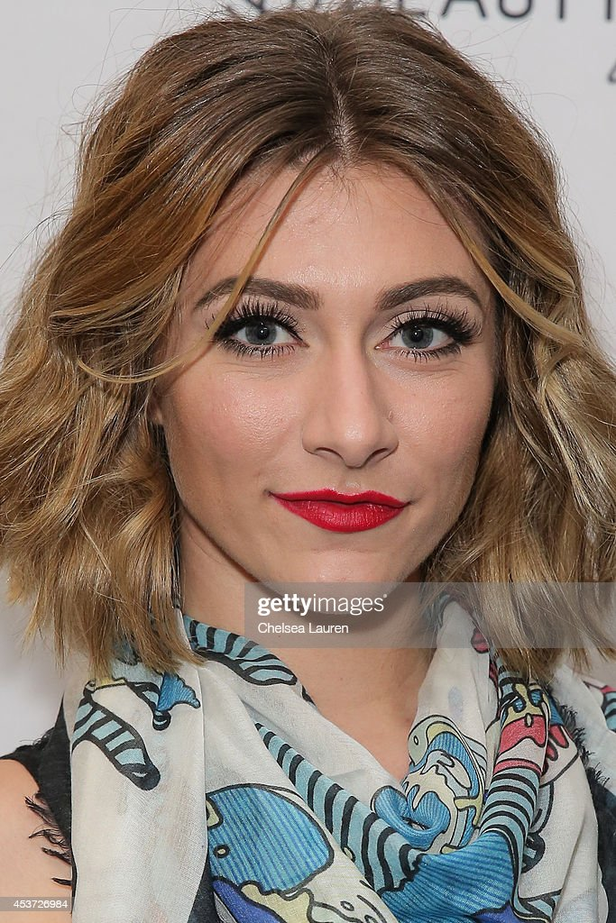 Singer Amy Heidemann of Karmin attends BeautyCon LA talent lounge sponsored by NYX Cosmetics at LA Mart at The Reef on August 16 2014 in Los Angeles...