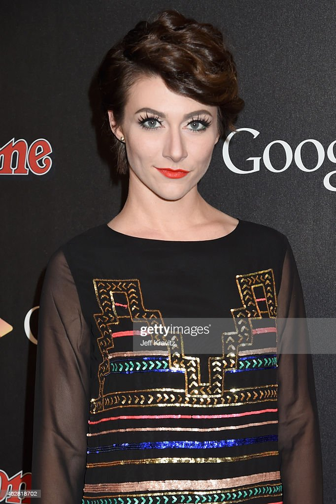 Singer Amy Heidemann of Karmin attends Rolling Stone and Google Play event during Grammy Week at the El Rey Theatre on February 5 2015 in Los Angeles...