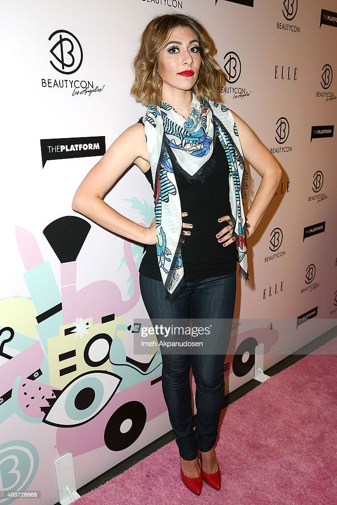 Singer Amy Heidemann of Karmin attends the 3rd Annual BeautyCon Summit presented by ELLE Magazine on August 16 2014 in Los Angeles California