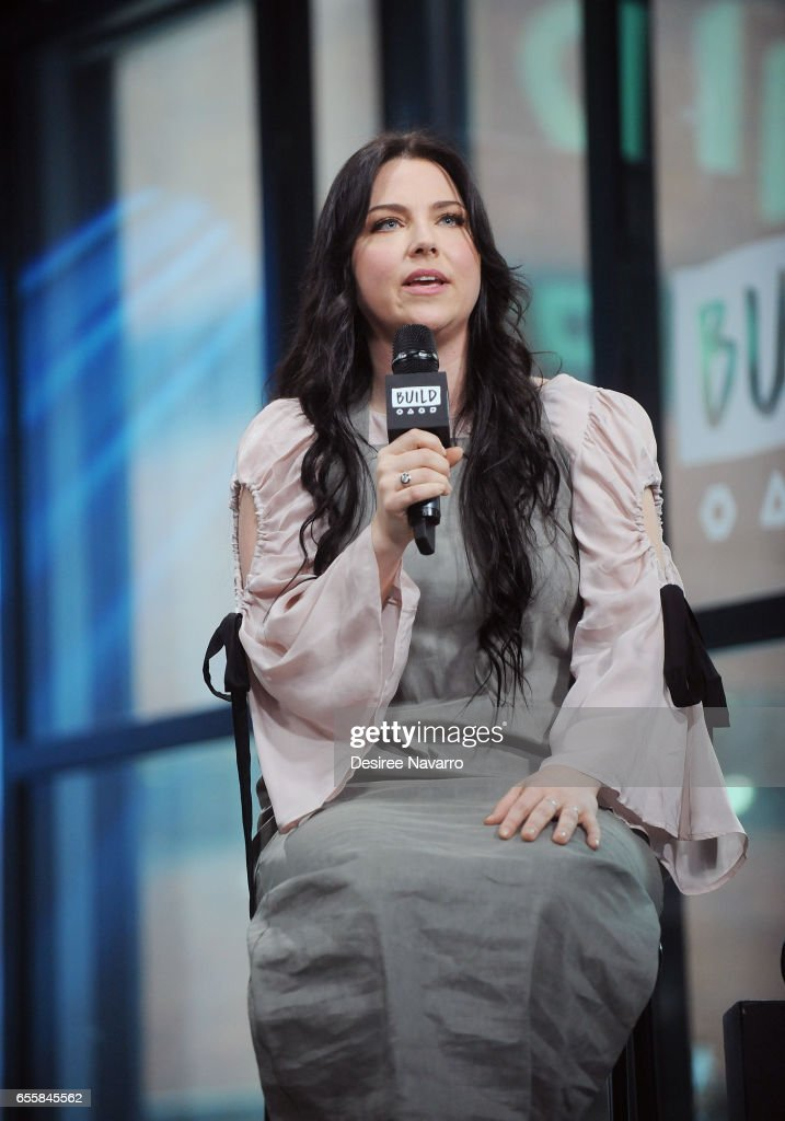 Singer Amy Lee attends Build Series to discuss her new single 'Speak to Me' at Build Studio on March 20, 2017 in New York City.