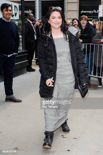 Singer Amy Lee enters the 'AOL Build' taping at the AOL Studios on March 20 2017 in New York City