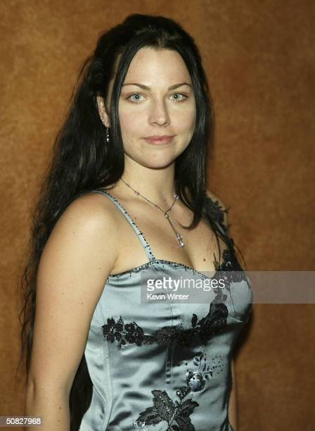 Singer Amy Lee Evanescence arrives at the 2004 BMI Pop Awards at the Regent Beverly Wilshire Hotel on May 11 2004 in Los Angeles California