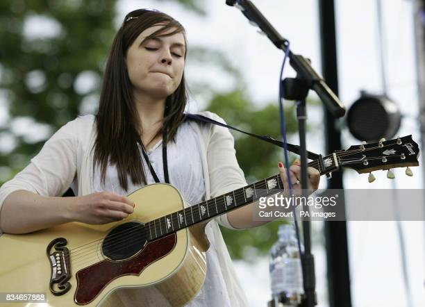 Singer Amy Macdonald performs at the Subway Picnic Rocks festival on Clapham Common south London