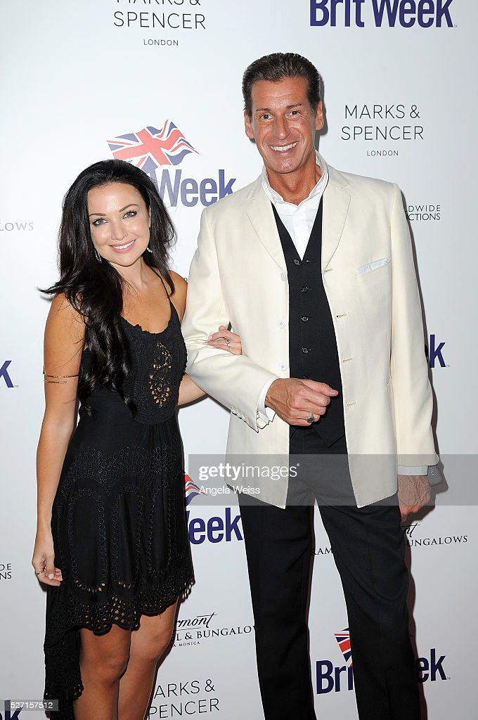 Singer Amy May (L) and Britweek Board of Directors, Francis Gregory O'Toole attend BritWeek's 10th Anniversary VIP Reception & Gala at Fairmont Hotel on May 1, 2016 in Los Angeles, California.