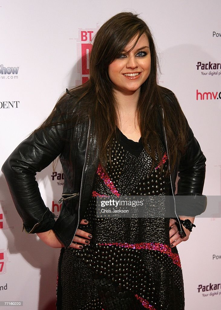 Singer Amy McDonald arrives at the BT Digital Music Awards at the Roundhouse on October 2 2007 in London England