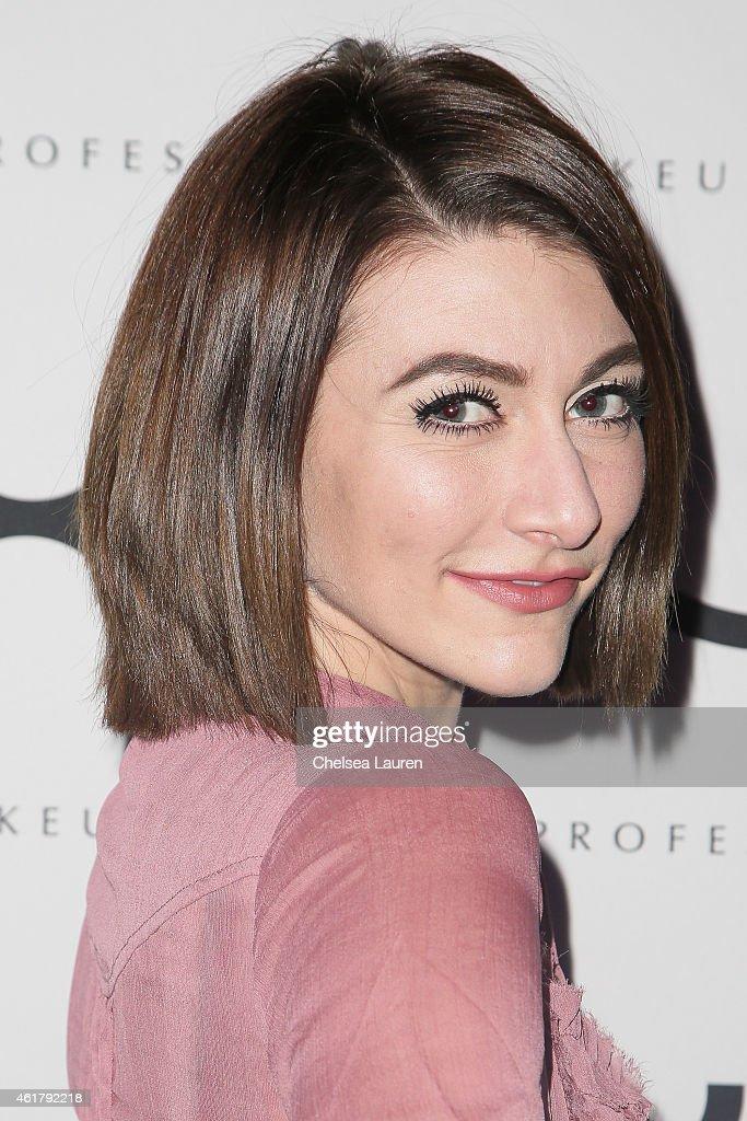 Singer Amy Renee Heidemann of Karmin attends NYX Cosmetics Unveiled IMATS LA 2015 on January 17 2015 in Los Angeles California