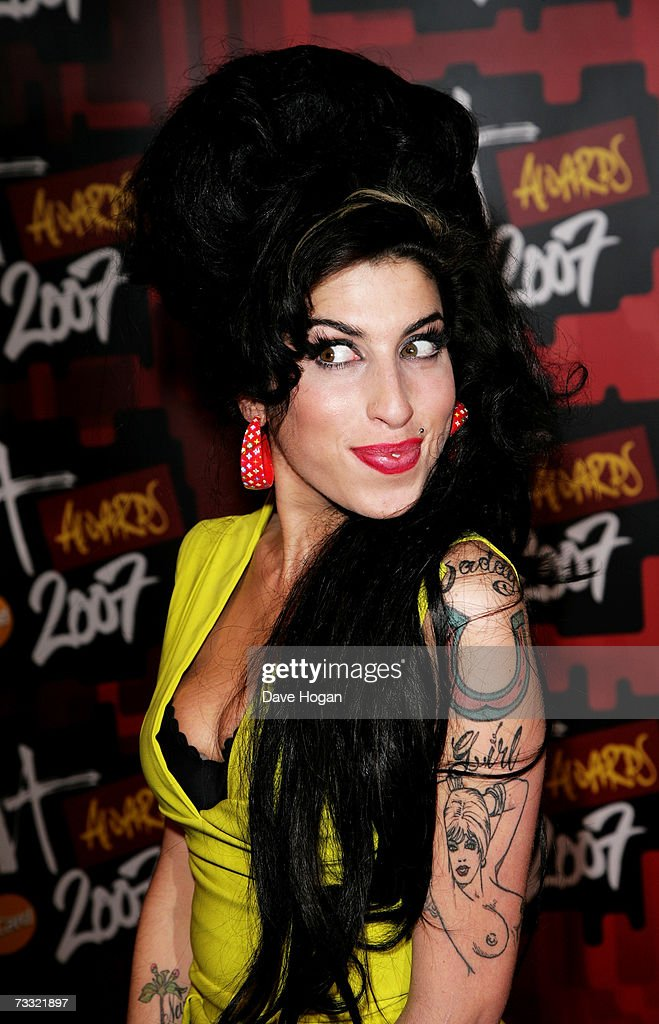 Singer Amy Winehouse arrives at The BRIT Awards 2007 in association with MasterCard at Earls Court 1 on February 14, 2007 in London, England.