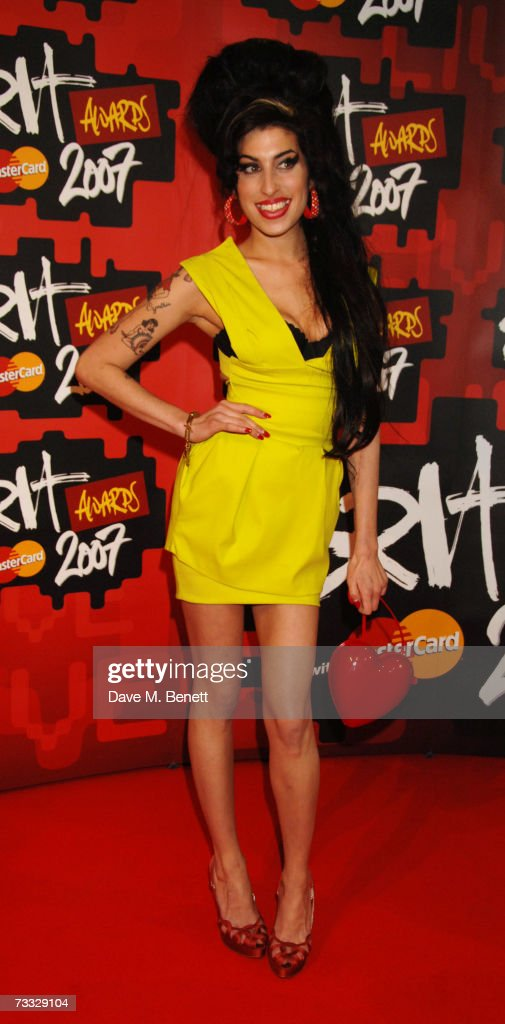 Singer Amy Winehouse arrives at the BRIT Awards 2007 in association with MasterCard, at Earls Court 1 on February 14, 2007 in London, England.