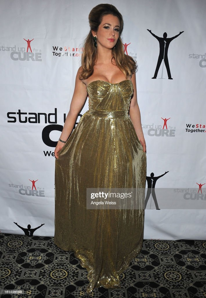 Singer Ana Cristina attends the Stand Up For A Cure 2013 Concert Series and Republic Records Grammy Party at The Emerson Theatre on February 10, 2013 in Hollywood, California.