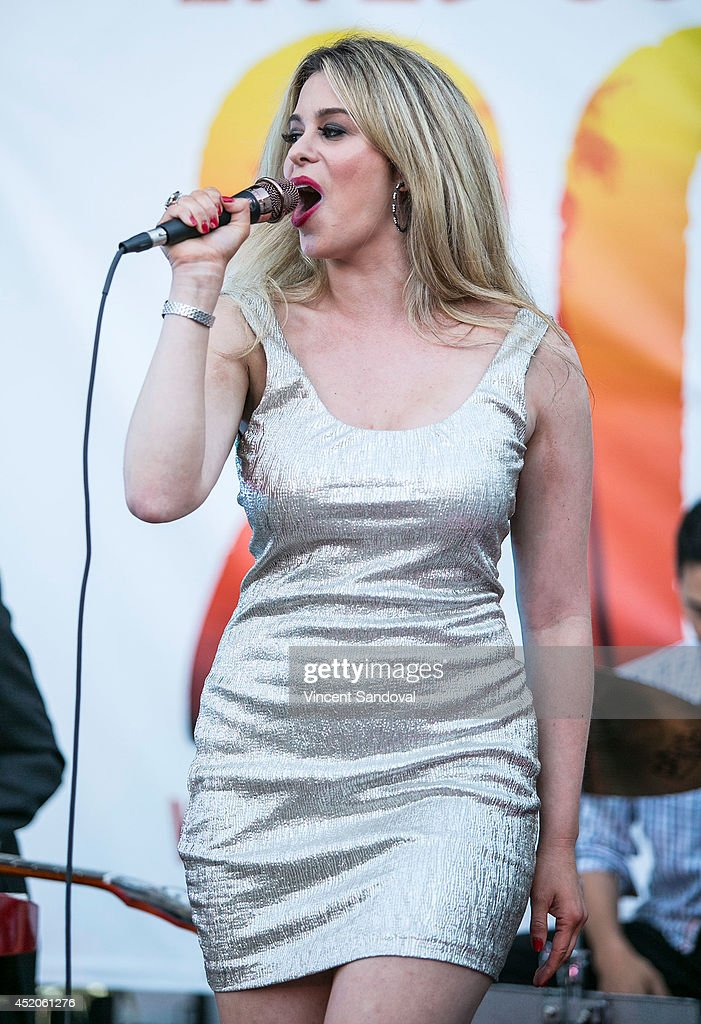 Singer Ana Cristina performs during the Southern Roots Music Series hosted by Deana Carter at Sunset Marquis Hotel Villas on July 11 2014 in West...