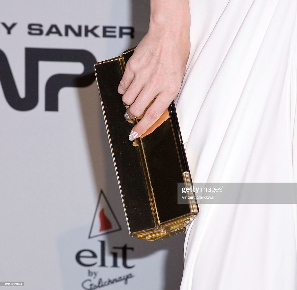 Singer Ana Matronic (purse detail) attends The White Party during Jeffrey Sanker Presents White Party Palm Springs 2013 - Day 2 at the Convention Center on March 30, 2013 in Palm Springs, California.