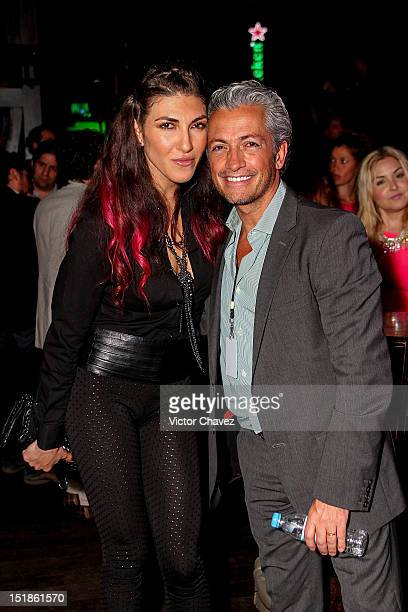 Singer Ana Victoria and Raul Velasco Jr attend the Latin Grammy Acoustic Sessions at Club Ragga on September 5 2012 in Mexico City Mexico