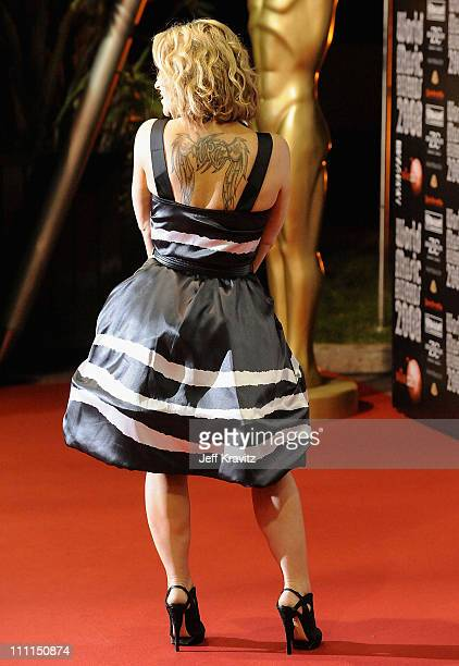 Singer Anastacia arrives for the World Music Awards 2008 at the Monte Carlo Sporting Club on November 9 2008 in Monte Carlo Monaco