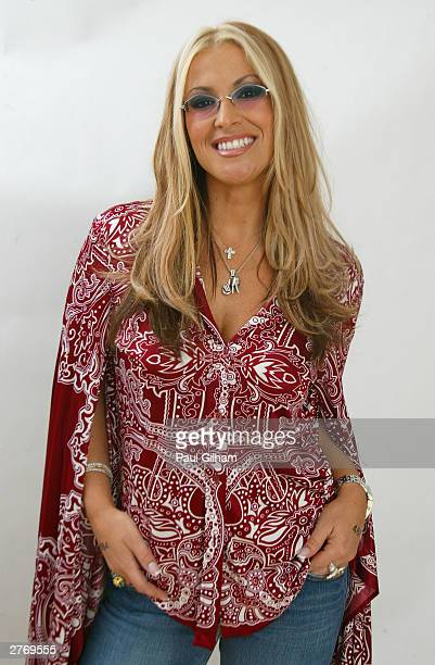 Singer Anastacia poses for a portrait in a studio at the '46664 Give One Minute of Your Life to AIDS' concert at Greenpoint Stadium on November 29...