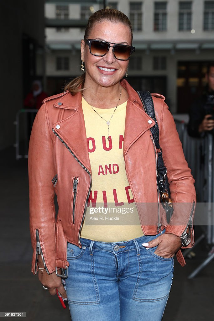 Singer Anastacia seen at the BBC Radio 1 Studios on August 19 2016 in London England