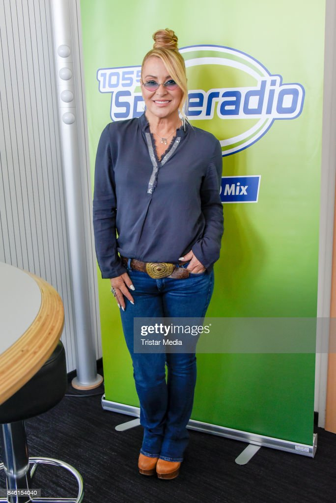 US singer Anastacia speaks about 'Caught In The Middle' at RTL Radio Center on September 12, 2017 in Berlin, Germany.