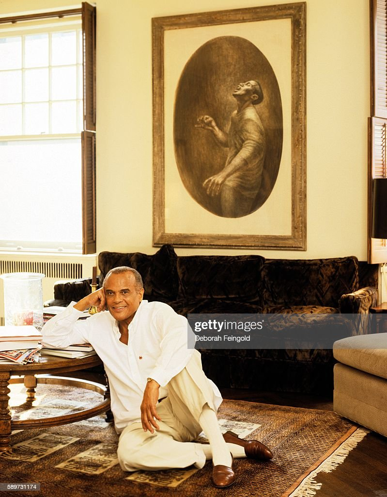 Singer and activist Harry Belafonte at home in July 1996 in New York City, New York.