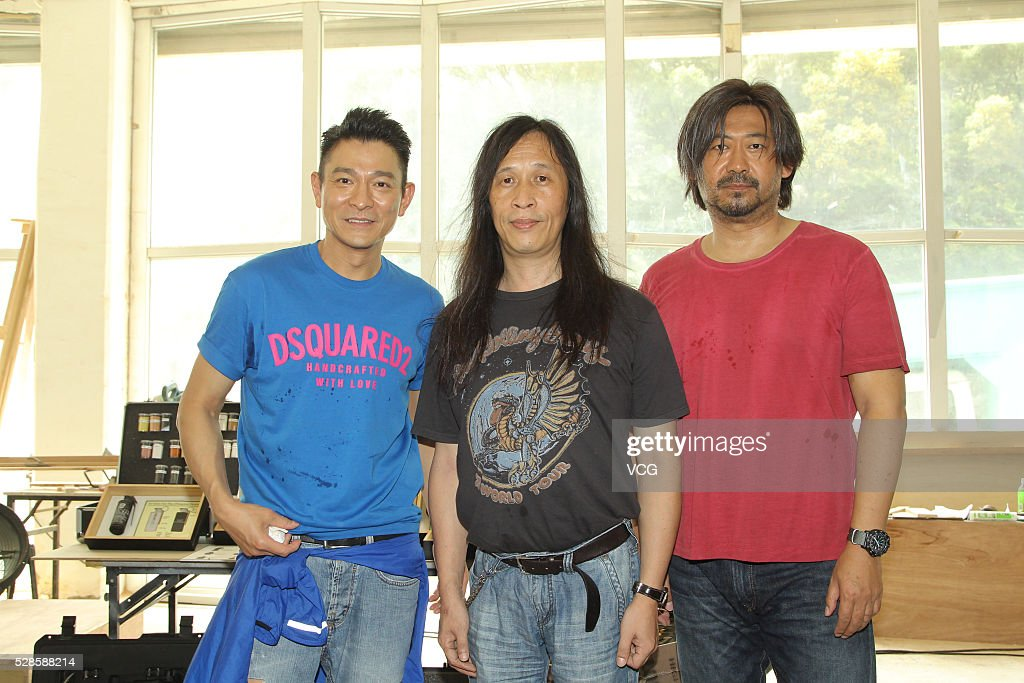 Singer and actor <a gi-track='captionPersonalityLinkClicked' href=/galleries/search?phrase=Andy+Lau&family=editorial&specificpeople=171171 ng-click='$event.stopPropagation()'>Andy Lau</a> (L) and actor <a gi-track='captionPersonalityLinkClicked' href=/galleries/search?phrase=Jiang+Wu&family=editorial&specificpeople=7901462 ng-click='$event.stopPropagation()'>Jiang Wu</a> (R) pose at the shooting set on May 6, 2016 in Hong Kong, China.