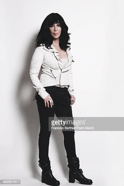 Singer and actor Cher is photographed for Paris Match on October 10 2013 in Paris France