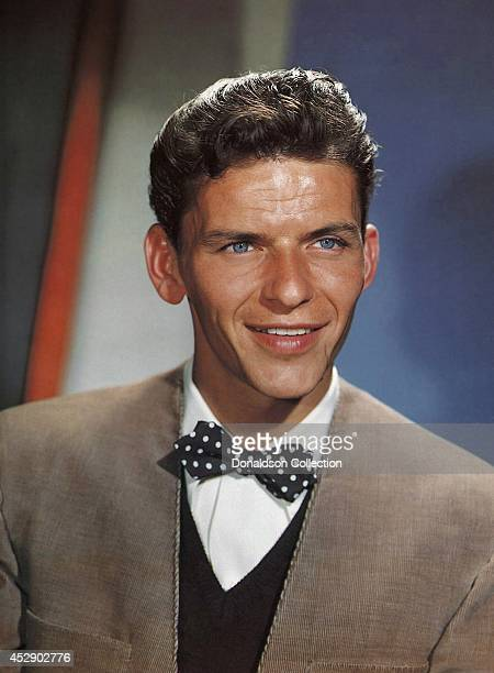 Singer and actor Frank Sinatra poses for a portrait to promote his CBS Radio show in August 1943 in New York City /Getty Images