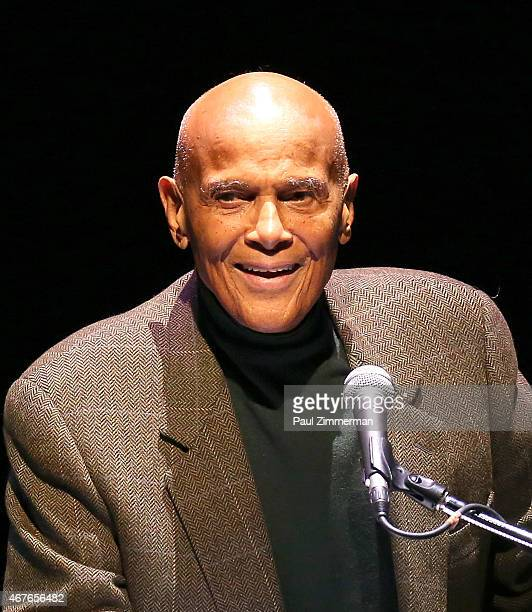 Singer and actor Harry Belafonte speaks at A Tribute to Polly Bergen at American Airlines Theatre on March 26 2015 in New York City