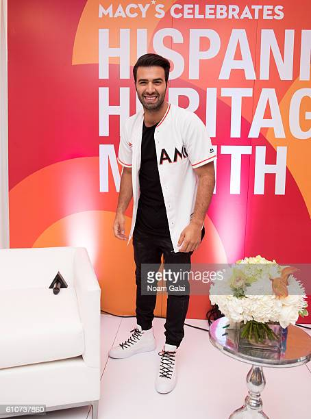 Singer and actor Jencarlos Canela visits Macy's to celebrate Hispanic heritage month at Macy's Herald Square on September 27 2016 in New York City