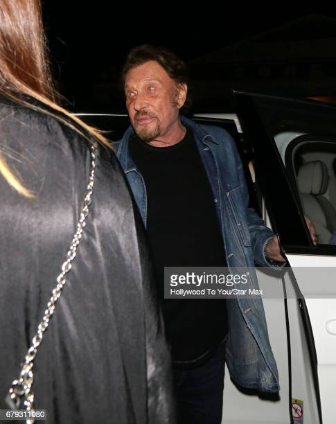 Singer and actor Johnny Hallyday is seen on May 4 2017 in Los Angeles California