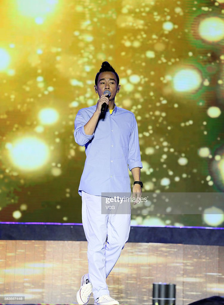 Singer and actor Jordan Chan performs onstage during the welcome party of 2016 Sichuan International Culture Tourism Festival on July 26 2016 in...
