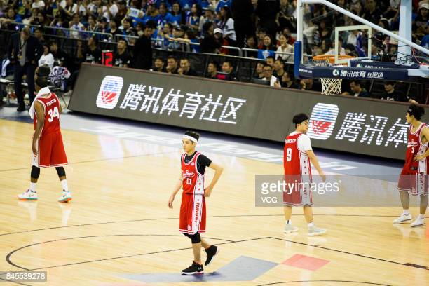 Singer and actor Kris Wu Yifan competes in the Super Penguin AllStar friendly match on September 10 2017 in Shanghai China