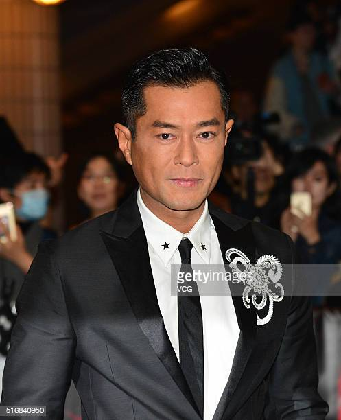 Singer and actor Louis Koo arrives for the 40th Hong Kong International Film Festival on March 21 2016 in Hong Kong China