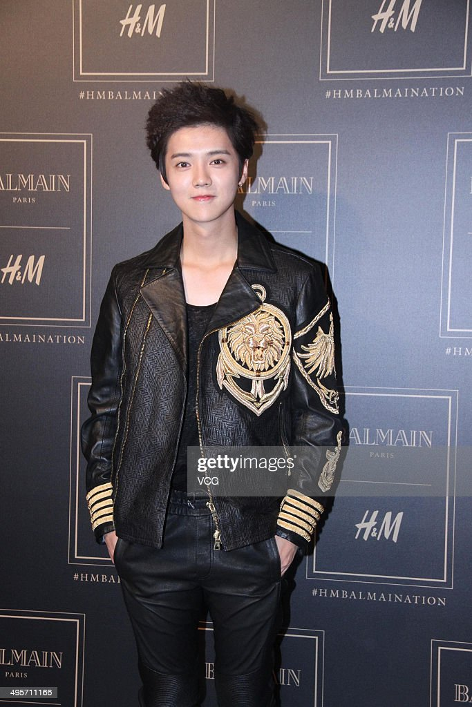 Singer and actor Lu Han attends BALMAIN X HM activity on November 3 2015 in Beijing China