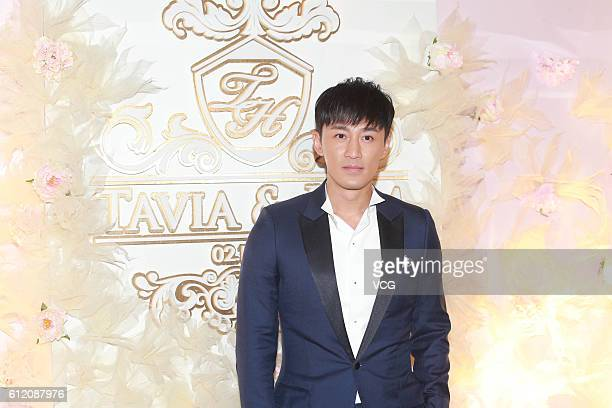 Singer and actor Raymond Lam attends the wedding of actors Him Law and Tavia Yeung on October 2 2016 in Hong Kong China