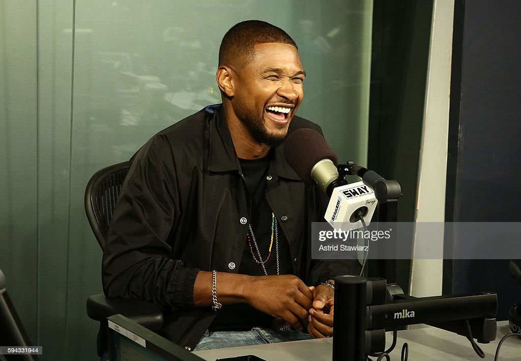 Singer and actor Usher visits 'Sway in the Morning' with Sway Calloway on Eminem's Shade 45 at the SiriusXM Studios on August 22, 2016 in New York City.