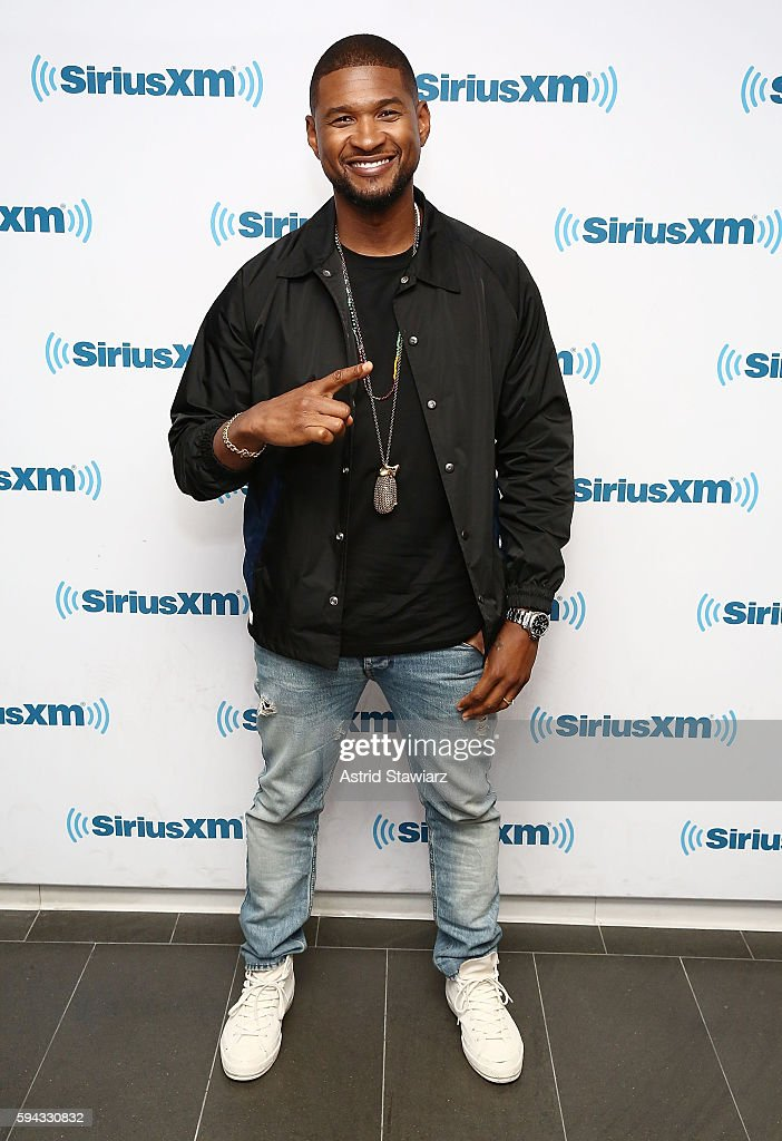 Singer and actor Usher visits the SiriusXM Studios on August 22, 2016 in New York City.