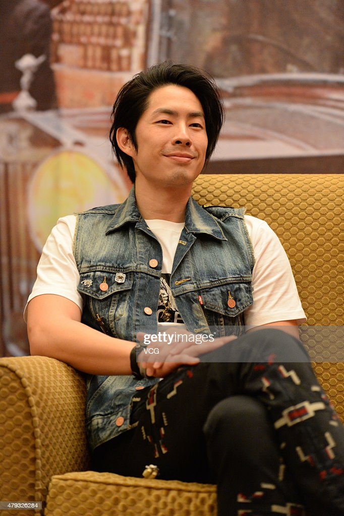 Singer and actor VanNess Wu attends press conference of film 'Monk Comes Down The Mountain' directed by Kaige Chen on July 3, 2015 in Chongqing, China.