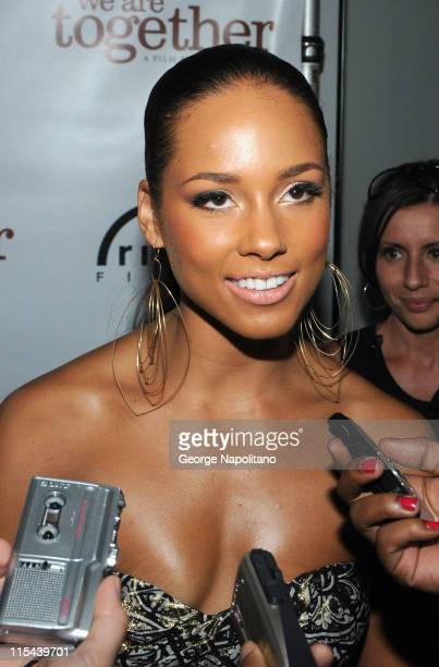 Singer and actress Alicia Keys attends the 'We Are Together' premiere on June 12 2008 at the Director's Guild of America in New York