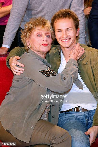 Singer and actress Annie Cordy and actor Mathieu Spinosi present the movie 'Les souvenirs' during the 'Vivement Dimanche' French TV Show at Pavillon...