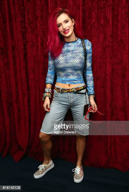 Singer and actress Bella Thorne visits the SiriusXM Studios on July 17 2017 in New York City