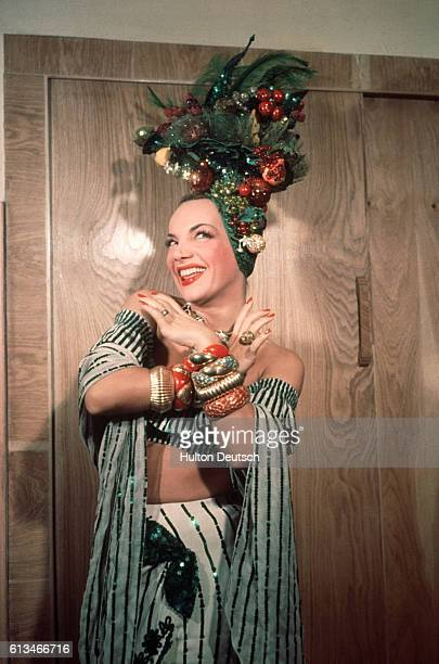 Singer and actress Carmen Miranda ca 1955