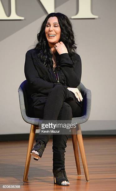 Singer and Actress Cher speaks onstage at the Fast Company Innovation Festival 2016 Cher Doreen Lorenzo at Skirball Center NYU on November 2 2016 in...