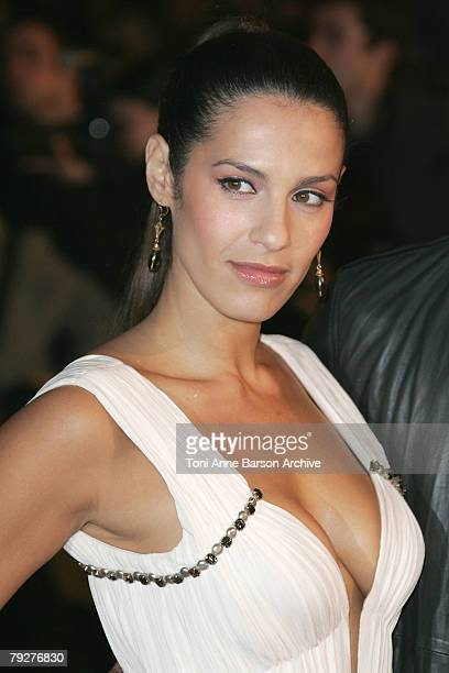 Singer and Actress Elisa Tovati arrives at the 2008 NRJ Music Awards at the Palais des Festivals on January 26 2008 in Cannes France