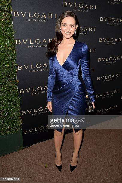 Singer and actress Emmy Rossum attends 'Decades of Glamour' presented by BVLGARI on February 25 2014 in West Hollywood California