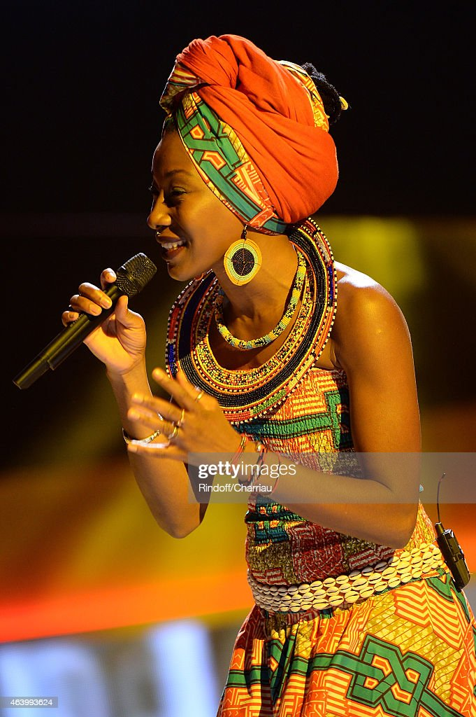 Singer and actress <a gi-track='captionPersonalityLinkClicked' href=/galleries/search?phrase=Fatoumata+Diawara&family=editorial&specificpeople=6928565 ng-click='$event.stopPropagation()'>Fatoumata Diawara</a> performs during 40th Cesar Film Awards 2015 Ceremony at Theatre du Chatelet on February 20, 2015 in Paris, France.